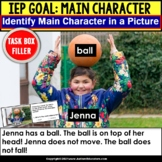 MAIN CHARACTER   with Pictures and Reading Passage Task Cards   Task Box Filler