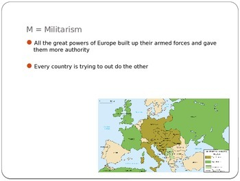 MAIN Causes of WWI