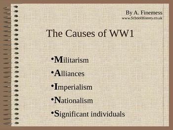 MAIN Causes of World War I