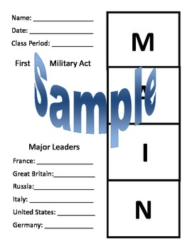 M.A.I.N Causes of World War... by Mrs J West | Teachers Pay Teachers