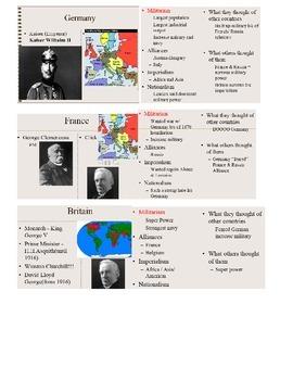 MAIN Causes of World War I handout
