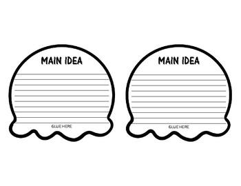 MAIN IDEA AND DETAIL ICE CREAM WRITING ACTIVITY [CRAFTIVITY]