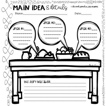 MAIN IDEA AND SUPPORTING DETAILS PASSAGES | NO PREP