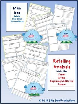 MAIN IDEA WINTER Retelling Graphic Organizers