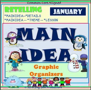 MAIN IDEA January Retelling Graphic Organizers