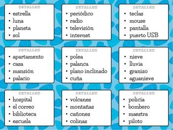 MAIN IDEA MILLION-DOLLAR PYRAMID Game - English & Spanish!