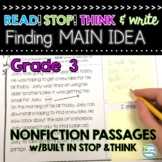 MAIN IDEA Reading Passages 3rd Grade