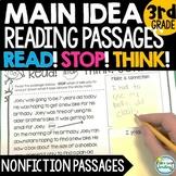 MAIN IDEA Reading Passages 3rd Grade