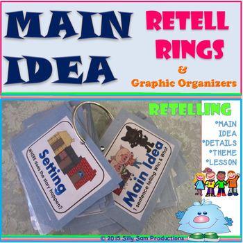 MAIN IDEA Retell Rings-Graphic Organizers