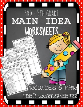MAIN IDEA WORKSHEETS - Passages & Questions!