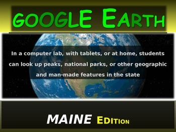 """MAINE"" GOOGLE EARTH Engaging Geography Assignment (PPT &"