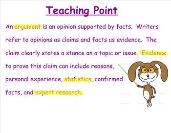 MAISA Argument Paragraph 6th grade
