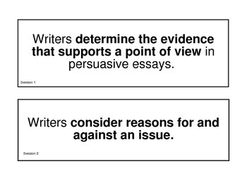 MAISA Persuasive Essay Miniposters Grade 5 (2013)