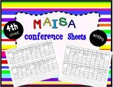 MAISA writing conference sheets, 4th grade