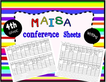 MAISA writing conference sheets, 4th grade