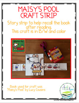MAISY'S POOL TODDLER BOOK UNIT & SEQUENCING CRAFT