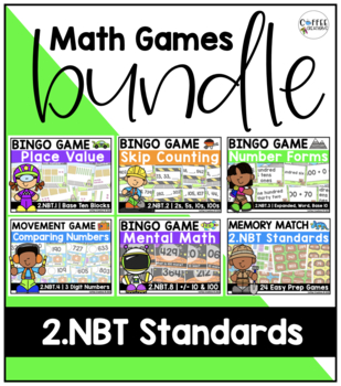 Math Games BUNDLE for 2.NBT.1 - 8