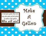 GALLON - Liquid Capacity Conversion Math Game - Elementary