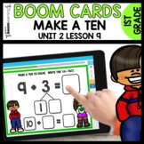 MAKE A TEN with 8 and 9  BOOM CARDS   Module 2 Lesson 9  D