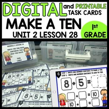 MAKE A TEN Practice DIGITAL TASK CARDS | PRINTABLE TASK CARDS