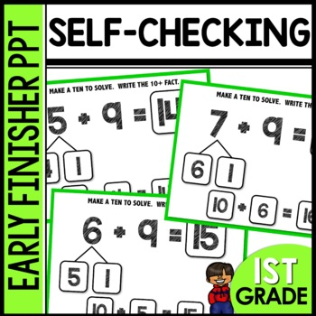 Early Finishers Activities | MAKE A TEN TO SOLVE