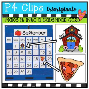 MAKE IT INTO A Calendar CARD BUNDLE (P4 Clips Trioriginals)