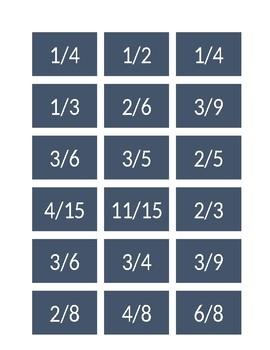MAKE ONE Fraction Matching Game
