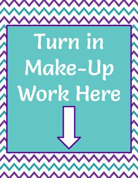 MAKE UP WORK POSTER