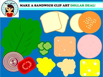 MAKE YOUR OWN SANDWICH CLIP ART DOLLAR DEAL