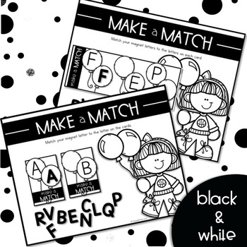 MAKE a MATCH {Activity to Teach Uppercase & Lowercase Letter Recognition}