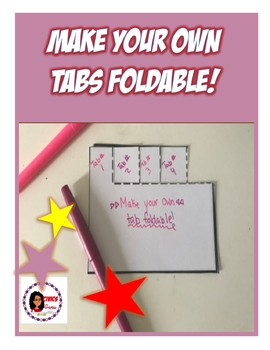 MAKE your own Tabs Foldable!!!