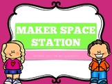 MAKER SPACE 12 Task Cards, Banner, Sign, Instructions and