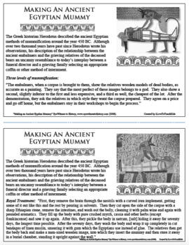 MAKING AN ANCIENT EGYPTIAN MUMMY Eyewitness Account PRIMARY SOURCE