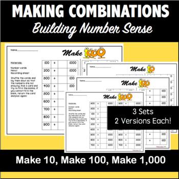 MAKING COMBINATIONS: Make 10, Make 100, Make 1,000