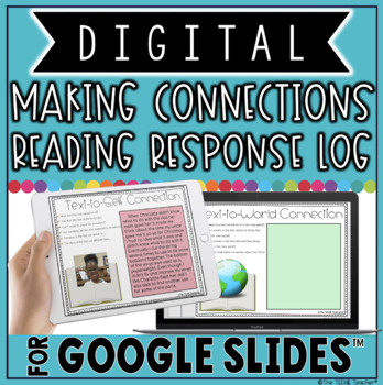 making connections digital reading response log in google slides