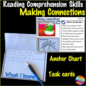 MAKING CONNECTIONS INFERENCE Task Cards for COMPREHENSION SKILLS in ELA Centers