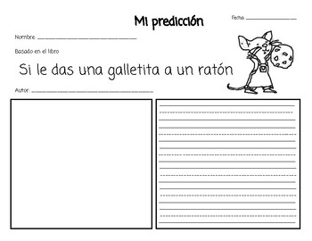 MAKING PREDICTIONS WRITING ACTIVITIES - Response to reading in Spanish