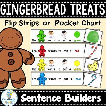 GINGERBREAD TREATS: Sight Word Sentences (Autism/Special Ed/ELL)