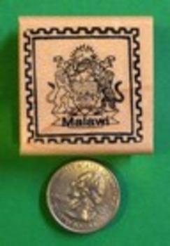 MALAWI Country/Passport Rubber Stamp