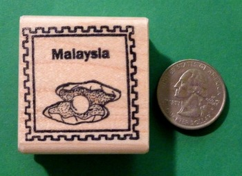 MALAYSIA Country/Passport Rubber Stamp