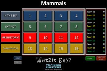 MAMMALS - A Watzit Say? Game  (Full Version)