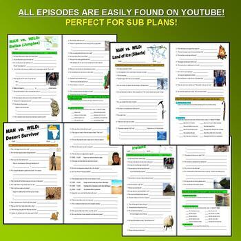MAN VS WILD - EVERY ADVENTURE SUPER BUNDLE - (64 Video Sheets & More!)