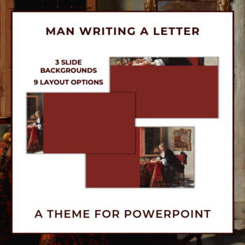 MAN WRITING A LETTER Theme for PowerPoint