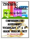 MANIAC MAGEE Comprehension/Assessment CCSS 360 Page Novel