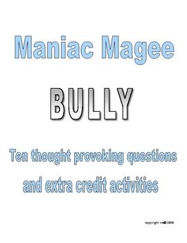 MANIAC MAGEE BULLYING
