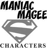 MANIAC MAGEE Characters Organizer (by Jerry Spinelli)