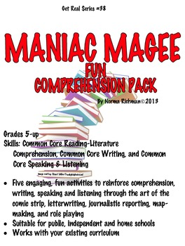 MANIAC MAGEE FUN COMPREHENSION LESSON PLANS WITH COMMON CORE ACTIVITIES