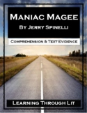 MANIAC MAGEE Jerry Spinelli - Comprehension & Text Evidence PRINT/SHARE