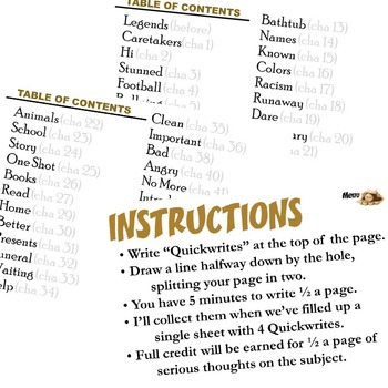 MANIAC MAGEE Journal - Quickwrite Writing Prompts - PowerPoint