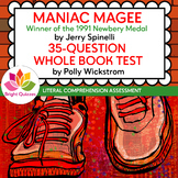 MANIAC MAGEE |  PRINTABLE WHOLE BOOK TEST | 35 MULTIPLE CH